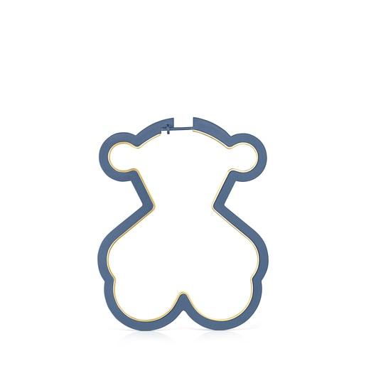 1/2Boucle d'oreille Silueta ours en Or Vermeil et Titane