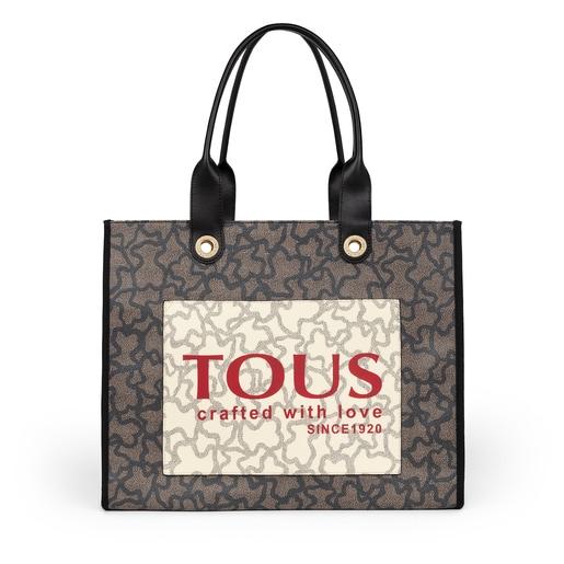 Μεγάλη Πολύχρωμη-Μαύρη Τσάντα για Ψώνια Amaya Kaos Icon