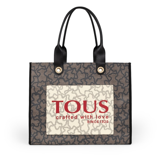 Large multi-black Amaya Kaos Icon Shopping bag