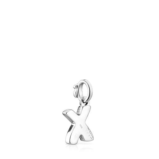 Alphabet-Anhänger X aus Silber