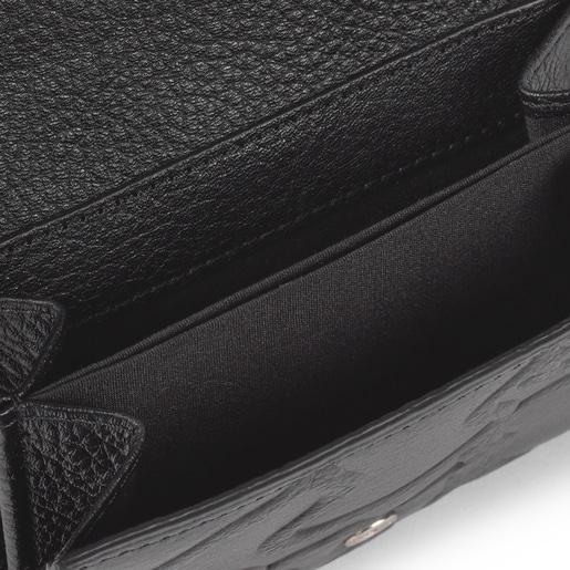 Small black Leather TOUS Icon Wallet