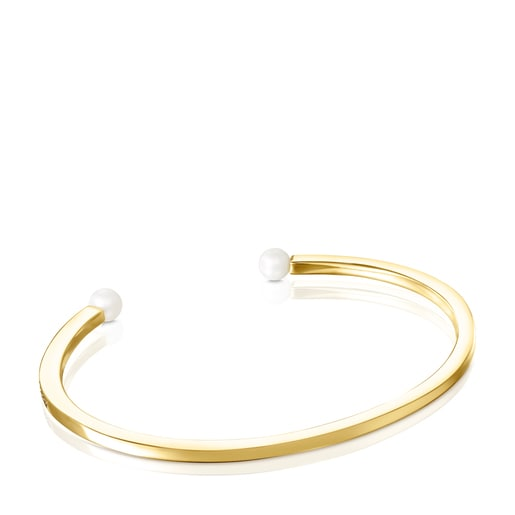 TOUS Nocturne Bracelet in Silver Vermeil with Diamonds and Pearls