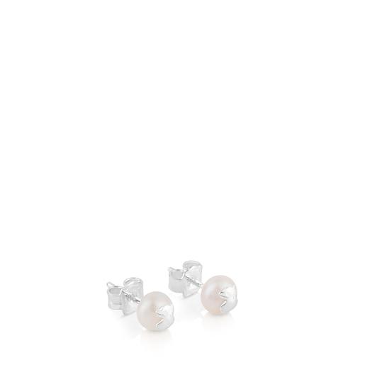 Silver TOUS Bear Earrings