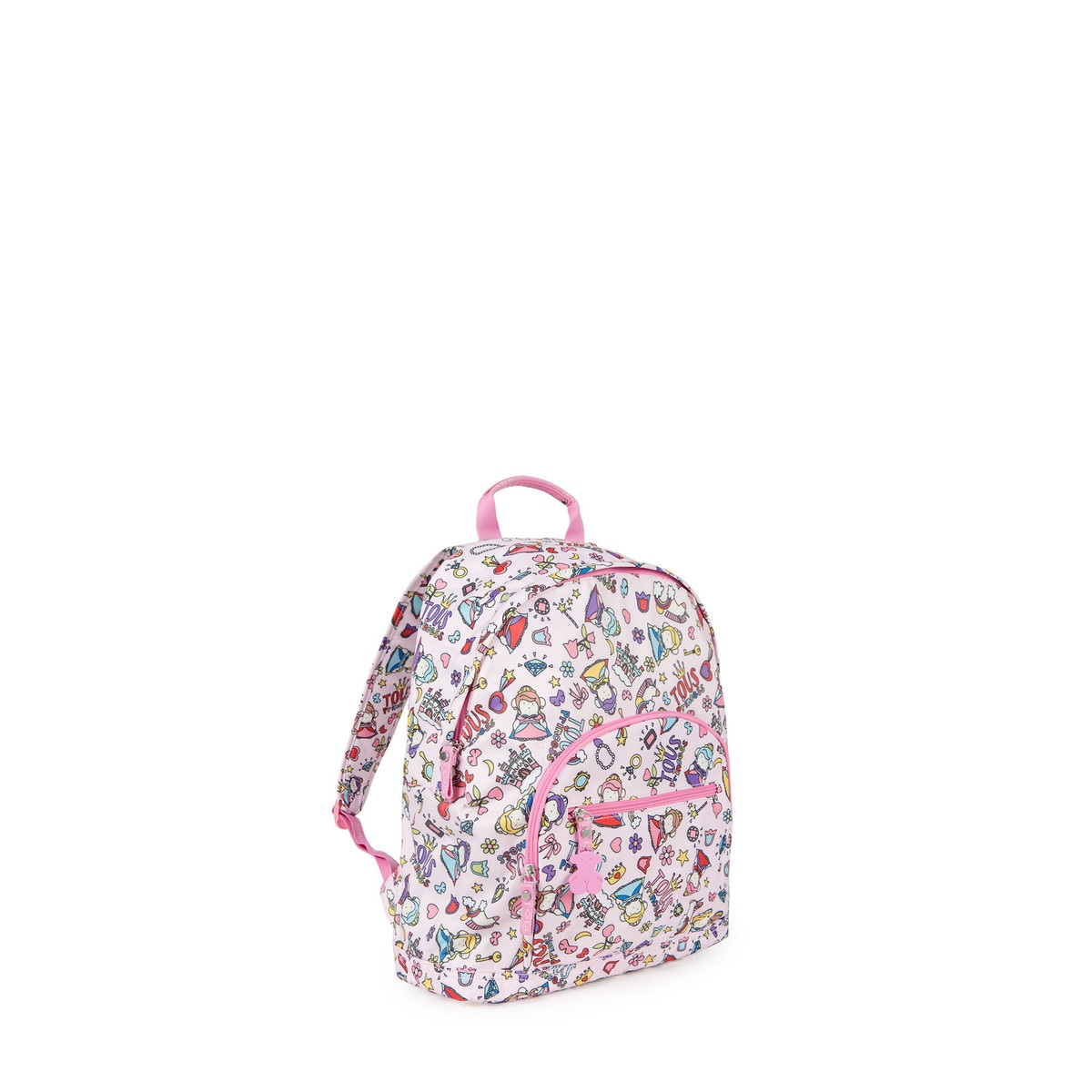 San Francisco 3bba2 e2baa Small pink-multicolored Canvas School Princess Backpack