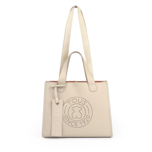 Medium beige Leather Leissa Tote bag