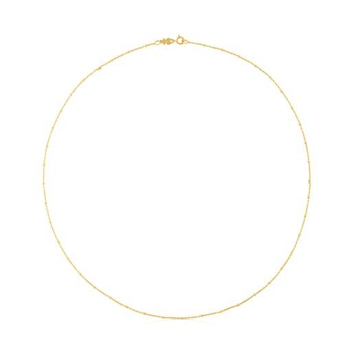Cadena TOUS Chain de oro con bolas intercaladas, 45cm.