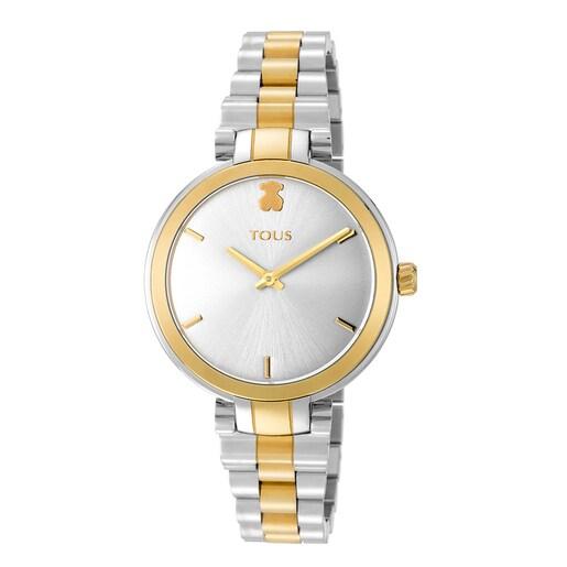 Reloj Julie bicolor acero/IP dorado