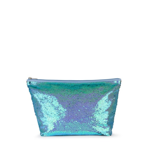 Bolsa mediana Kaos Shock Sequins azul