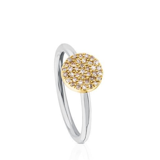 Titanium Gem Power Ring with Gold and Diamonds