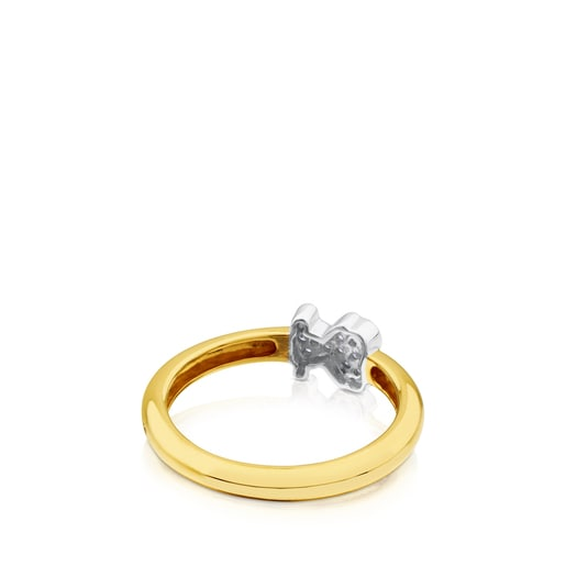 Yellow and White Gold Gen Ring with Diamond