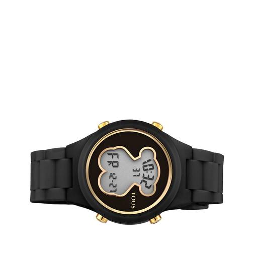 Reloj D-Bear de policarbonato con correa de silicona negra