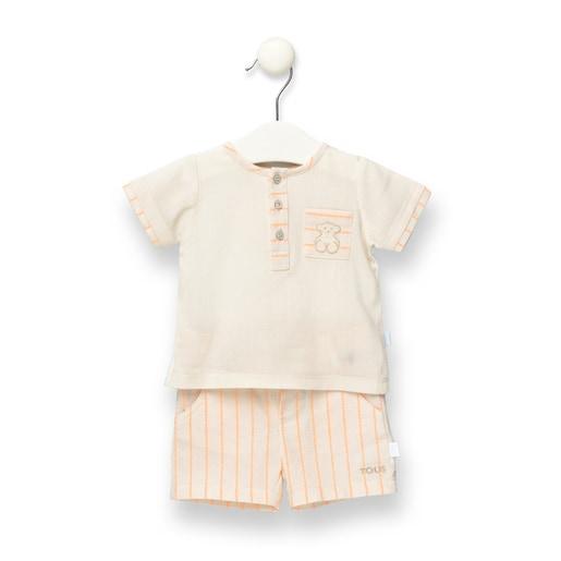 Conjunto camisa y short Orange Crudo