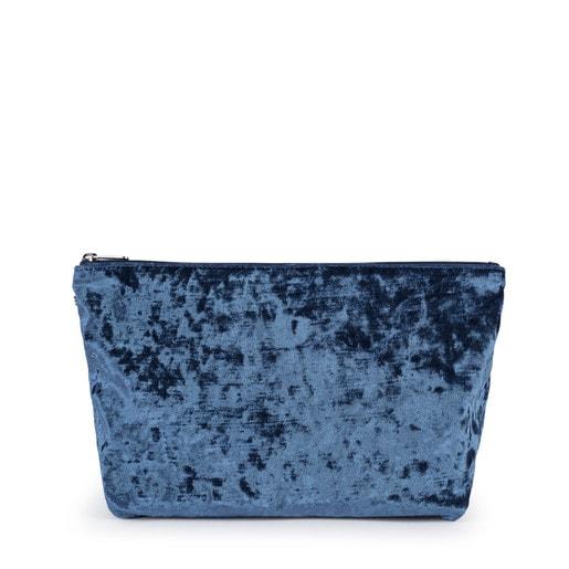 Bolsa mediana Kaos Shock de Terciopelo azul