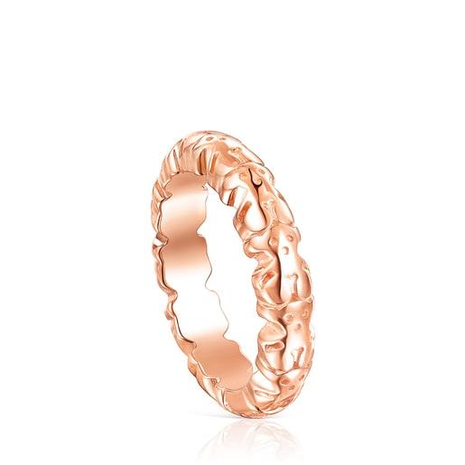 Rose Silver Vermeil Straight XL Ring