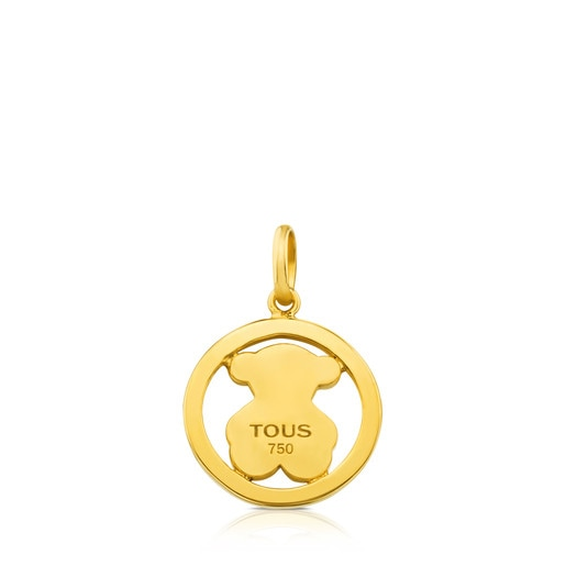 Camille Pendant in Gold with big Bear motif