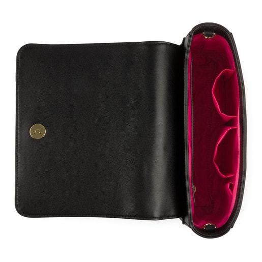 Medium black Kaos Capitone Crossbody Bag