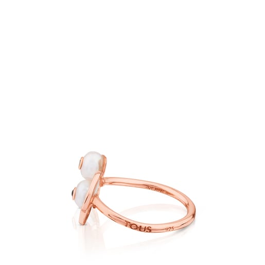 Rose Vermeil Silver Face Ring