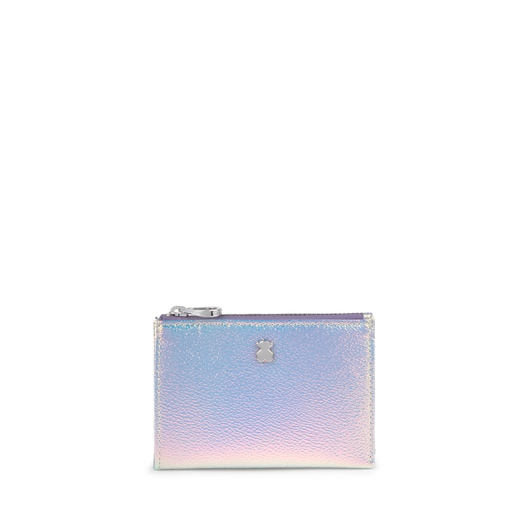 Iridescent Lilac Dorp Change Purse-Cardholder