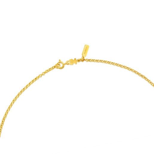Gargantilla TOUS Chain de plata vermeil con anillas redondas, 45cm.