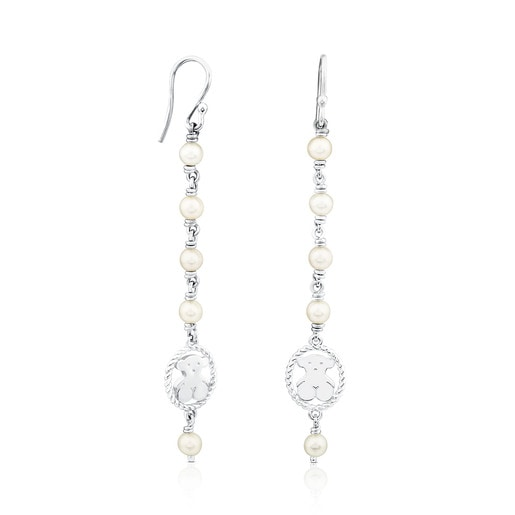 Ohrringe Camee aus Silber mit Perle
