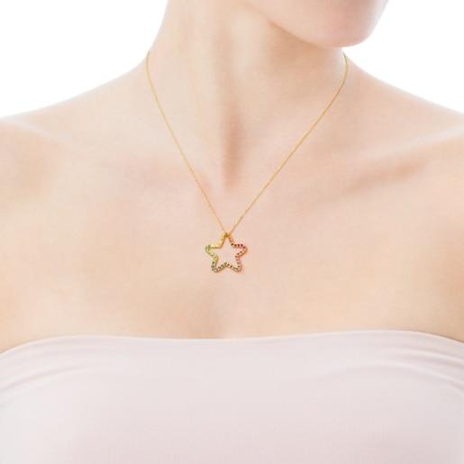 Halskette Icon aus Gold mit Edelsteinen