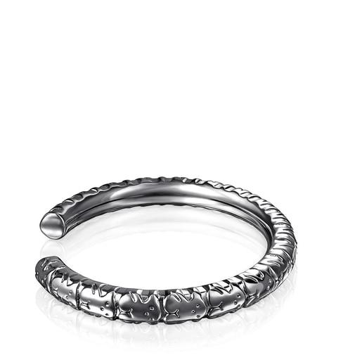 Dark silver Straight XL Bracelet