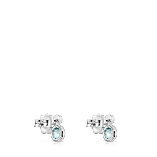 White Gold with Topaz and Diamonds Color Kings Earrings