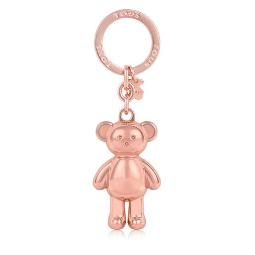Llavero Oso Teddy Bear dorado rosa