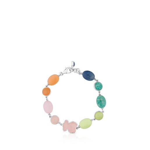 Silver New Color Bracelet with Gemstones