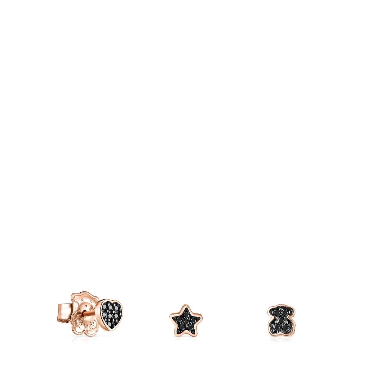 43b7d14a65a5 Pack de Pendientes Motif de Plata Vermeil rosa con Espinelas - Sitio ...