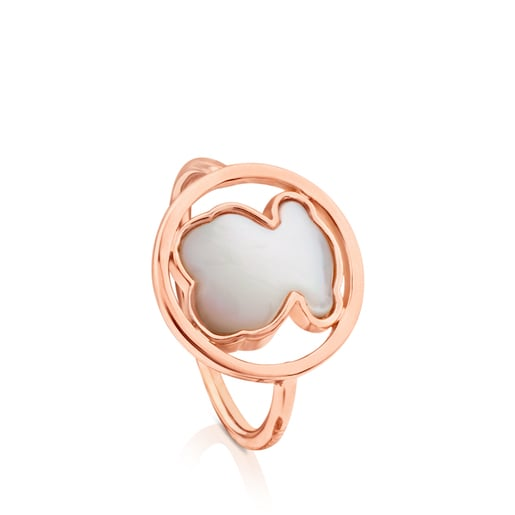 Rose Vermeil Silver Camille Ring with Mother-of-Pearl