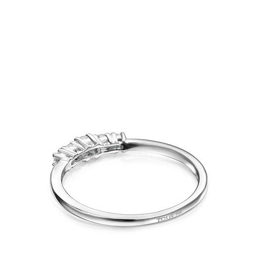 Anel Riviere em Ouro branco com diamantes