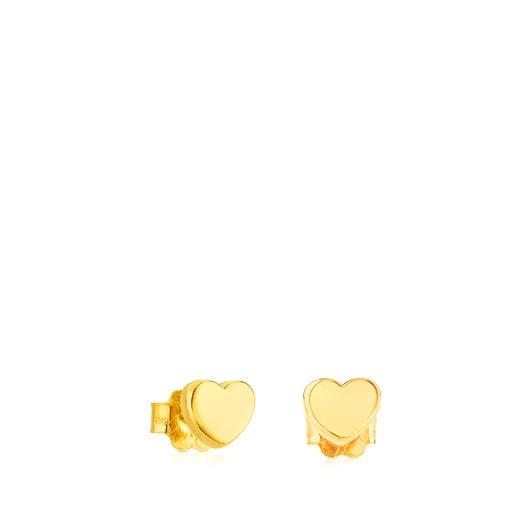Gold Sweet Dolls XXS Earrings with Bear motif. Pressure clasp.