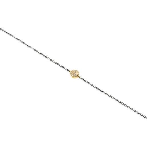 Pulseira Gem Power em Ouro e Prata com Diamantes
