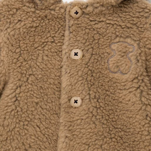 Abrigo con capucha Be Navy Gris