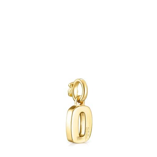 Alphabet-Anhänger O aus Vermeil-Gold