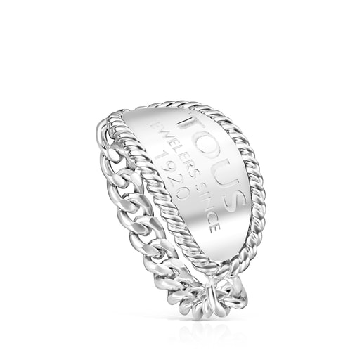 Silver TOUS Minne Ring