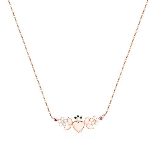 Collar Real Sisy de Plata Vermeil rosa con Gemas