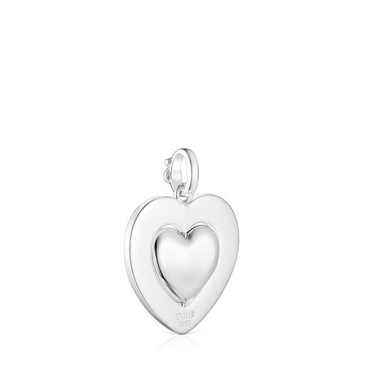 Colgante giratorio corazón de plata San Valentín
