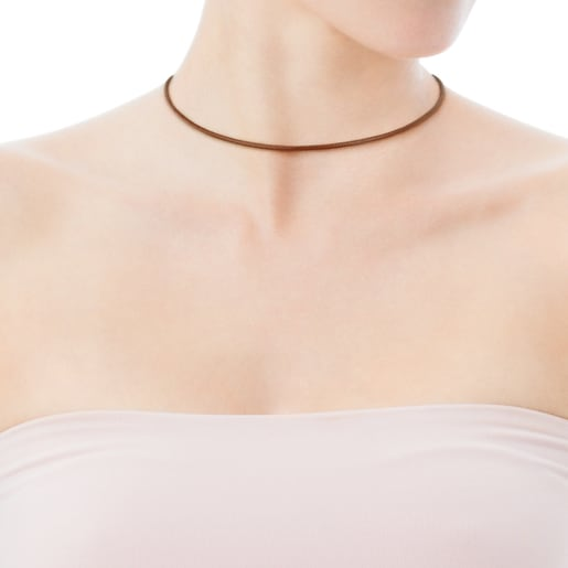 Natural colored Leather TOUS Chokers Choker