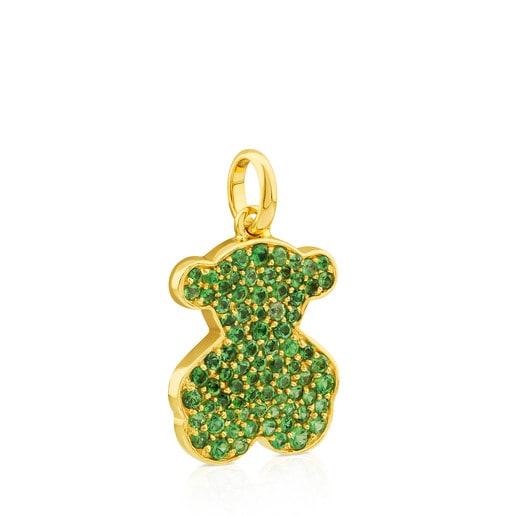 Gold Icon Gems Pendant with Tsavorite