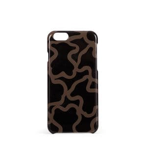 Funda de mòbil iPhone 6 Kaos de color negre-camel