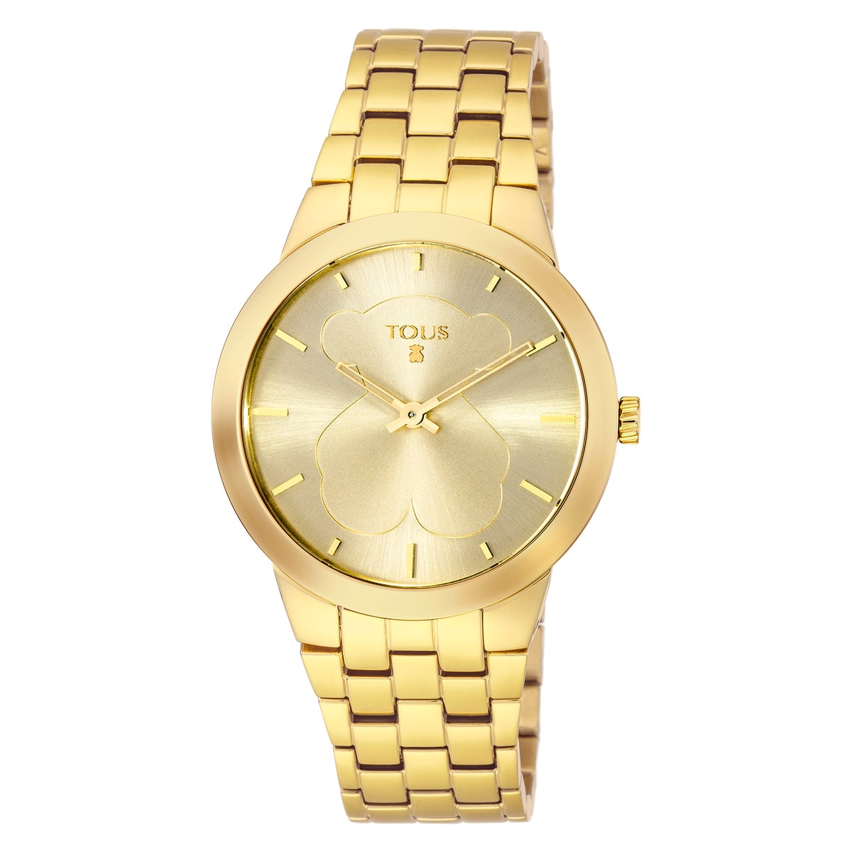 Gold IP Steel B-Face Watch