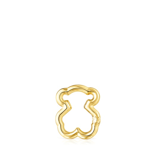 Large Gold Hold Bear Ring