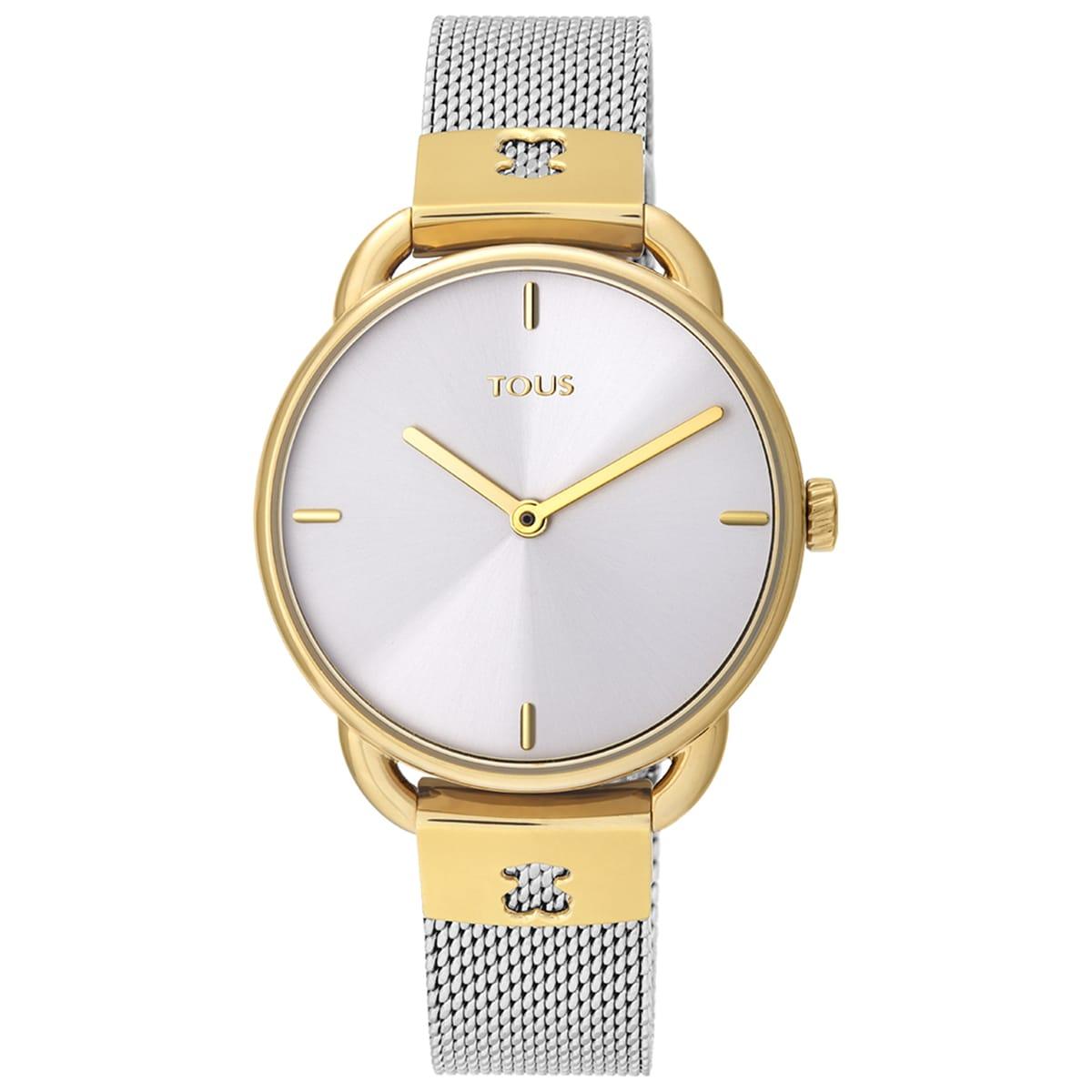 Reloj Let Mesh bicolor acero/IP dorado