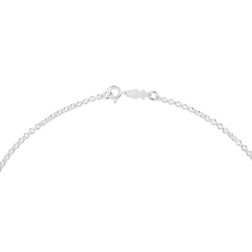 Enge Halskette TOUS Chain aus Silber, 40cm lang mit runden Gliedern.