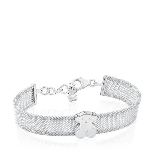 Silver Icon Mesh Bracelet