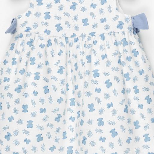 Vestido S/M de corte evasé Blue Azul