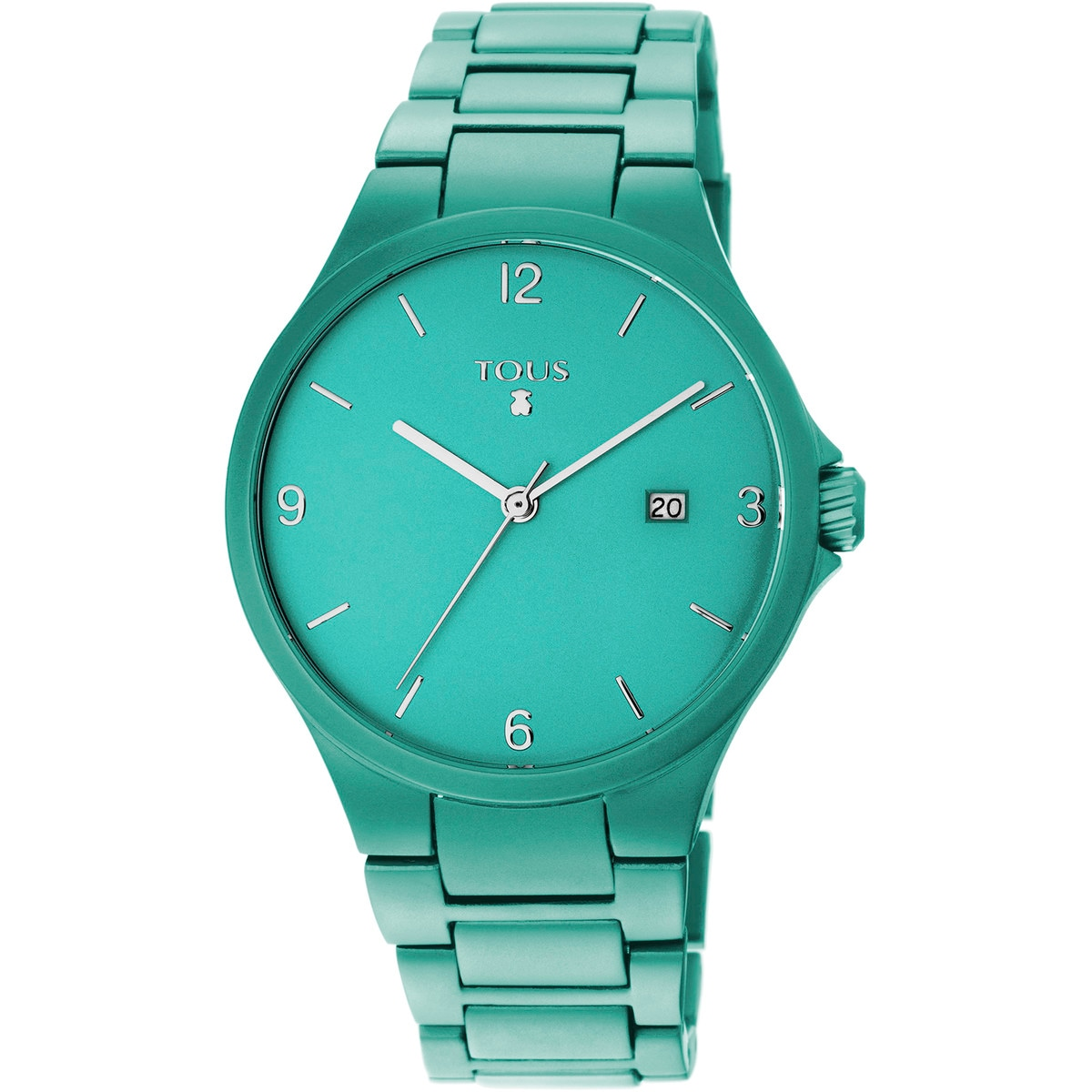 Turquoise anodized aluminum Motion Aluminio Watch