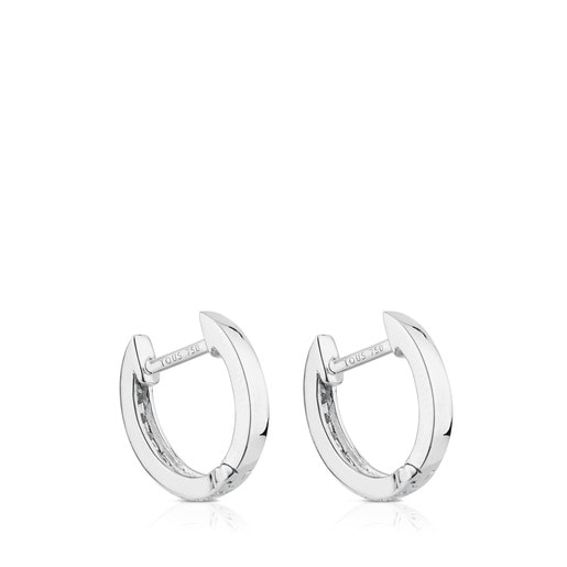 White Gold TOUS Les Classiques hoop Earrings with Diamonds
